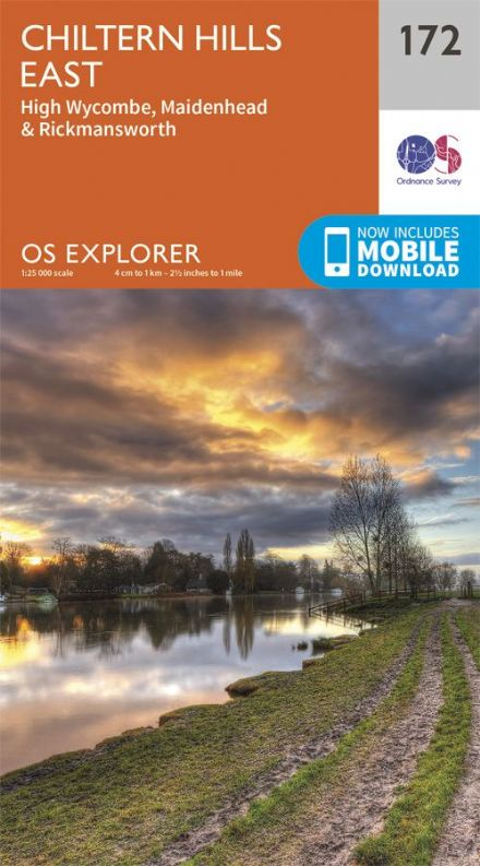 OS Explorer 172 - Chiltern Hills East, High Wycombe, Maidenhead & Rickmansworth